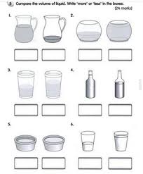 capacity worksheets for kindergarten worksheets volume of liquid