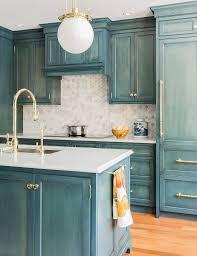 kitchen furniture glazed cabinets and faux finish wall make