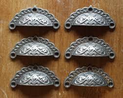 antique cast iron drawer pulls rustic vintage pull handles