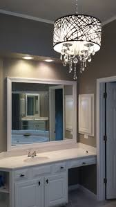 great design ideas of gray bathroom with chandelier bathroom