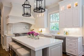 gray french kitchen island with turned legs transitional kitchen