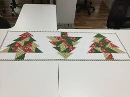Holiday Table Runners by Half Square Triangle Christmas Tree Table Runner Class