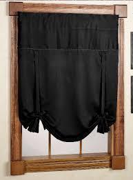 Black Curtains With Valance Blackstone Tie Up Curtain U2013 Black U2013 United Kitchen Valances