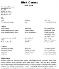 Example Of A Dance Resume Sample Dance Resume For Audition 2688