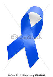 blue support ribbon blue support ribbon blue ribbon isolated on white stock