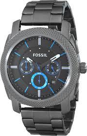 fossil steel leather bracelet images Fossil men 39 s fs4931 machine gunmetal tone stainless jpg