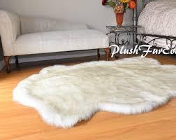 Polar Bear Fur Rug Bear Pelt Etsy