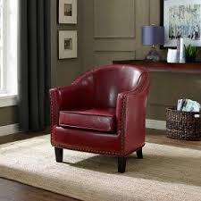 Red Club Chair Red Accent Chairs On Hayneedle Red Living Room Chairs