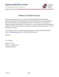 stcw medical certificate announcement professional mariner web