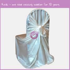2014 cheap silver satin fabric chair covers for weddings