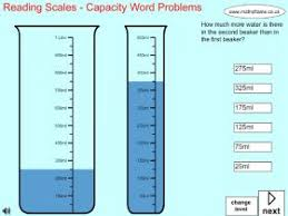 reading scales capacity word problems mathsframe