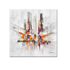 Handmade In New York - city downtown new york streets modern picture painted