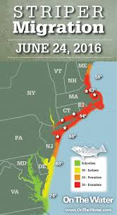 Portland Maine Zip Code Map by Striper Migration Map June 24 2016 On The Water