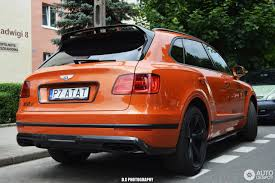 bentley orange bentley bentayga diesel 1 july 2017 autogespot