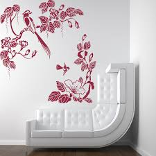 floral corners wall stickers iconwallstickers co uk tropical birds floral branches birds feathers wall stickers home art decals