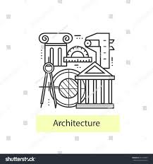 modern thin line icons architecture concept stock vector 411229843