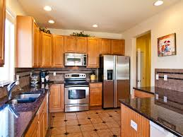 Tiled Kitchen Ideas Brown Square Tile With Black On The Middle Tile Kitchen Floor Feat