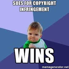 Meme Generator Copyright - sues for copyright infringement wins success kid meme generator