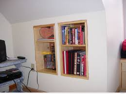 Wall Bookshelves Knee Wall Shelves Pennsgrovehistory Com