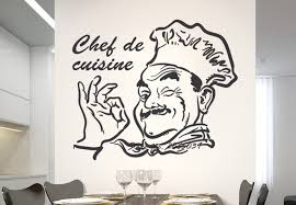 stickers de cuisine kitchen wall sticker chef de cuisine removable sticky vinyl home