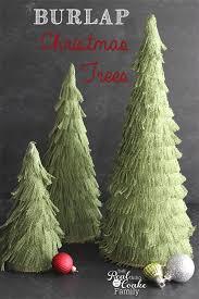 burlap christmas tree christmas crafts make your own adorable burlap christmas trees