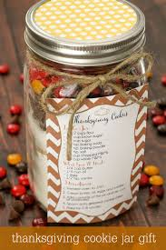 and simple thanksgiving cookie jar gift for friends