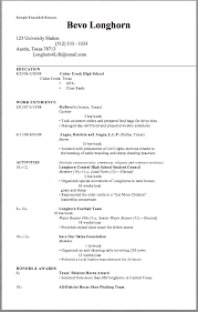 Hha Resume Sample Expanded Resume Sample Expanded Resume Bevo Longhorn 123