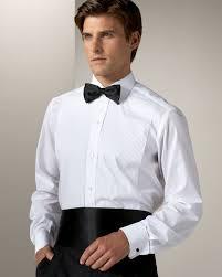 white brioni tuxedo shirt suitored