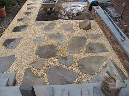 Loose Gravel Patio Gravel Patio I Like The Arbor And The Circular Planter Beds
