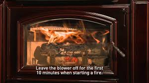 quadra fire wood stove or insert building a fire video youtube