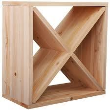 24 bottles holder wine rack solid wood stackable storage cube