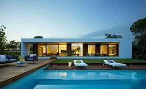 modern villa indigo catalonia spain architectural drawing awesome