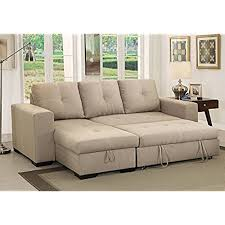 sofa with chaise and sleeper sleeper sectional sofa with chaise amazon com