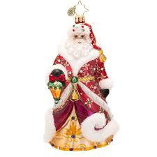 christopher radko ornaments 2015 radko santa ornament shimmering