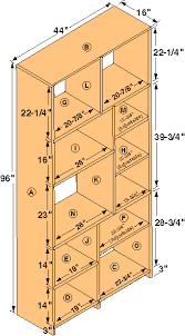 Wooden Bookcase Plans Free by Free Tall Bookshelf Woodworking Plans From Shopsmith