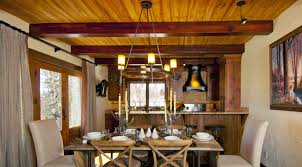midnight trail lodge colorado vacation rental homes c lazy u the dining room is tastefully decorated