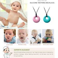 teething necklace baby images Bpa free baby silicone teething necklace baby teether round jpg