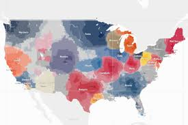 A Map Of Michigan by New York Times Releases Map Of Baseball Fandom Bless You Boys