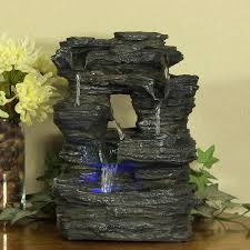 Indoor Waterfall Home Decor by Amazon Com Sunnydaze Five Stream Rock Cavern Tabletop Fountain