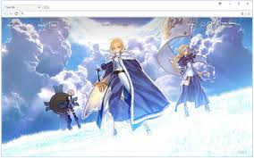 theme psp fate stay night fate stay night hd wallpaper anime new tab free addons