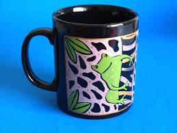 Crazy Mugs by Kiln Craft Green Tree Frog Mug Retro Kilncraft Crazy Frogs