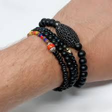 skull bracelet bead images Tigers eye 18kt gold skull beaded bracelet jpg