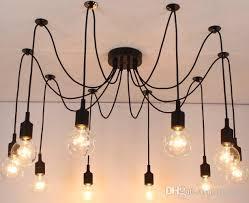 new net retro classic chandelier 10 e27 spider l pendant bulb