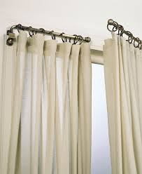 Window Rods For Curtains Living Room Impressive Bay Window Curtains Rods 8260 With Regard