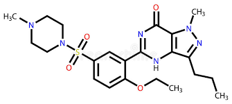 fórmula estrutural de viagra sildenafil ilustração do vetor