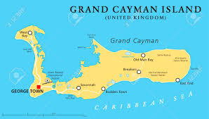 St Thomas Island Map Grand Cayman Island Political Map With Capital George Town And