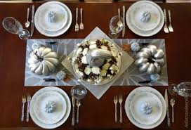 make a simple but spectacular silver thanksgiving centerpiece an
