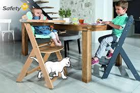 chaise pour bébé chaise haute bébé en bois naturel timba de 6 mois à 10 ans safety