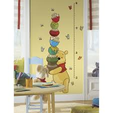 simply diy nursery wall decals and stickers pooh and friends peel and stick growth chart wall decal