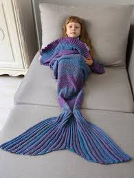 mermaid decorations for home kid blankets home decor ombre crochet knit mermaid blanket throw